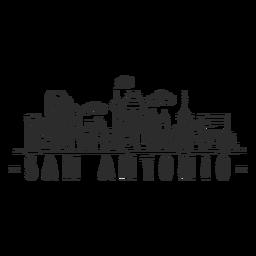 San Antonio Tower Helm Himmel Schaber Haube Wolke Skyline Aufkleber