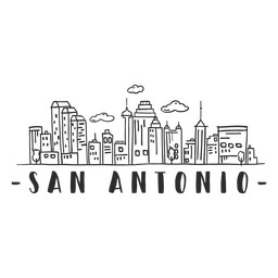 San antonio tower skyline sticker