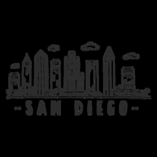 San Diego Kuppel Business Center Wolkenkratzer Skyline Aufkleber