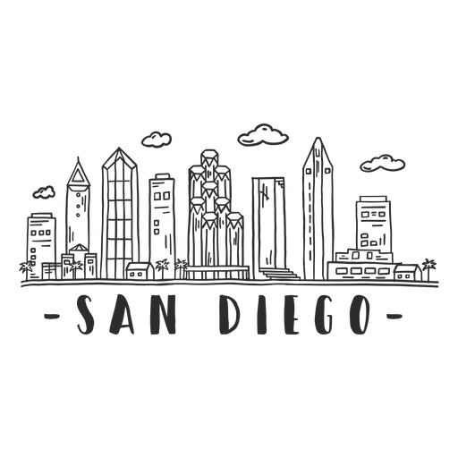 San diego palm dome business center sky scraper mall cloud skyline sticker Transparent PNG