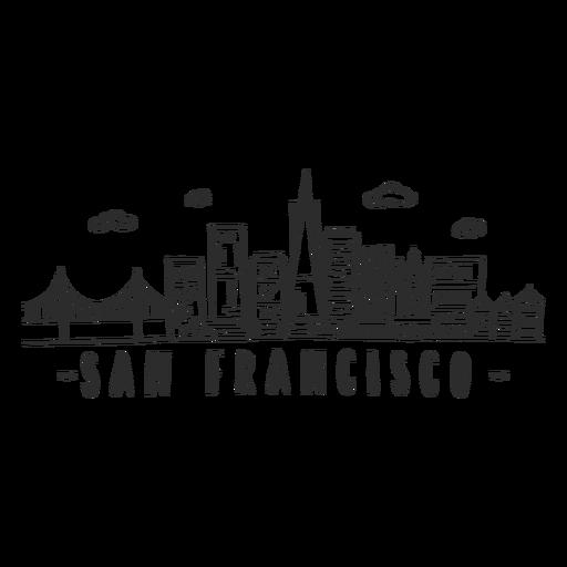 Adesivo de arranha-céu da ponte de São Francisco Transparent PNG