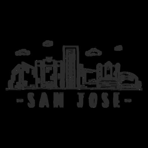 San jose cathedral sky scraper skyline sticker Transparent PNG