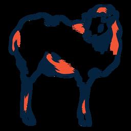 Ilustración de ovejas duotono