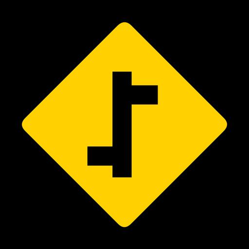 Carretera lateral derecha izquierda rombo advertencia plana Transparent PNG