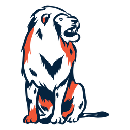 Sentado león ilustración