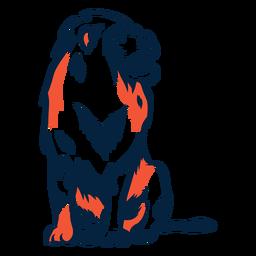 Sitting lion illustration