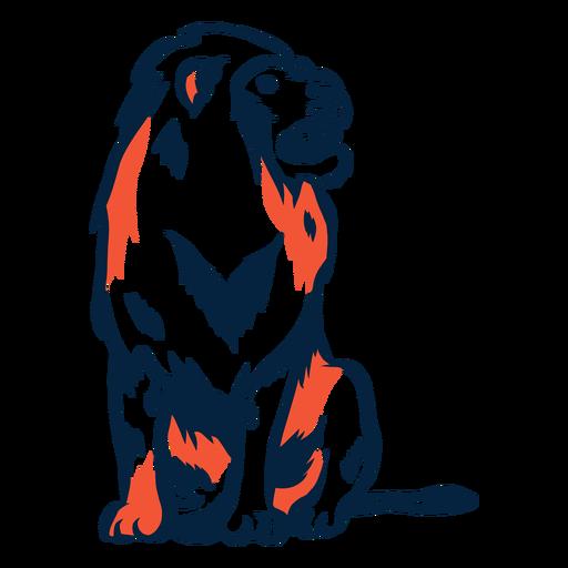 Ilustración de león sentado Transparent PNG