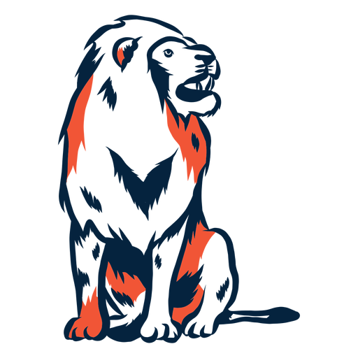 Sitting lion illustration Transparent PNG
