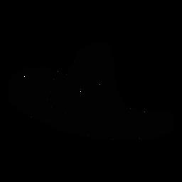 Sombrero ala silueta