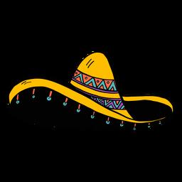 Sombrero franja color color boceto