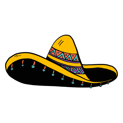 Sombrero fringe color colour sketch Transparent PNG
