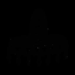 Sombrero fringe diseño silueta