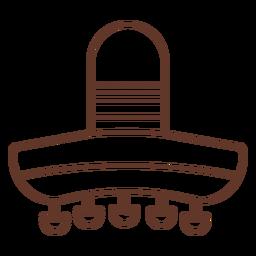 Sombrero franja punto franja trazo