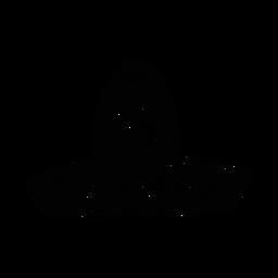 Silhueta de ilustração de sombrero