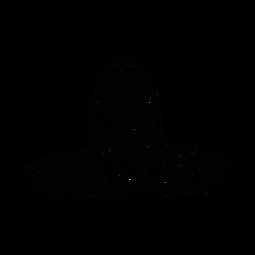 Silhueta de ilustração de sombrero Transparent PNG