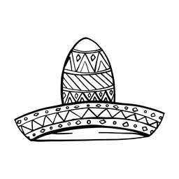 Sombrero pattern stroke