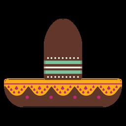 Sombrero spot franja plana