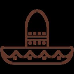 Sombrero punto raya trazo