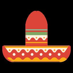 Sombrero raya punto plana