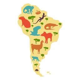 South america illustrated map