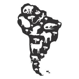 Südamerika Karte Silhouette