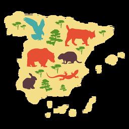 Mapa ilustrado da Espanha