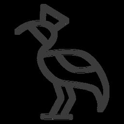 Cigüeña divinidad pico corona cola trazo