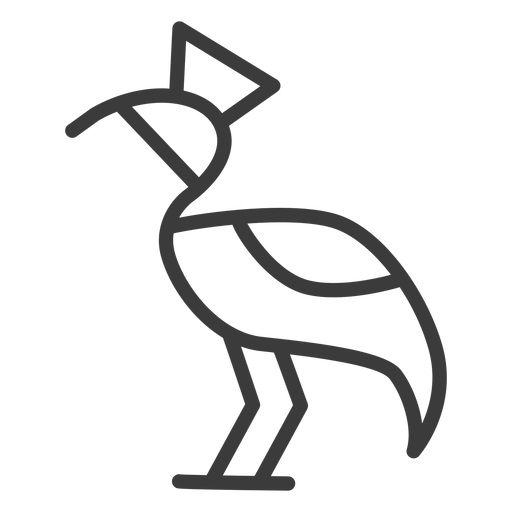 Stork divinity beak crown tail stroke Transparent PNG