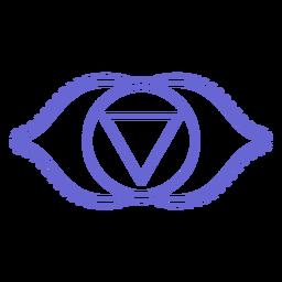 Icono de chakra trazo