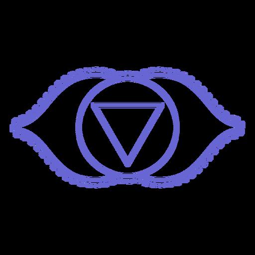 Icono de chakra trazo Transparent PNG