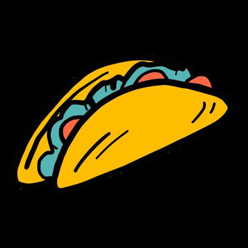Boceto color Taco Pimienta. Transparent PNG