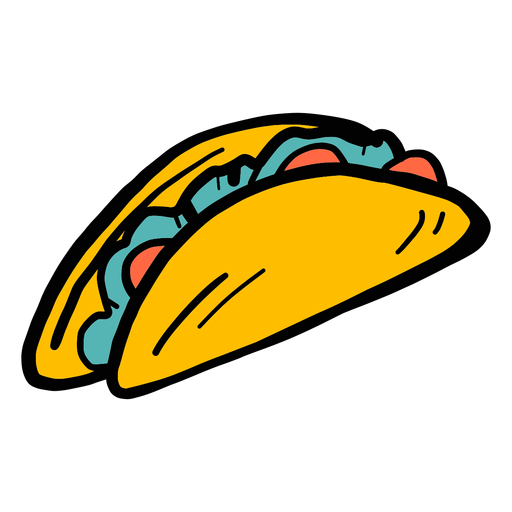 Taco pepper color colour sketch Transparent PNG