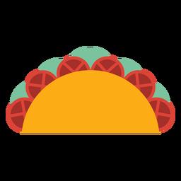 Taco tomate fatia alface plana