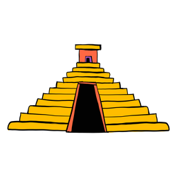 Temple pyramid aztec color colour sketch