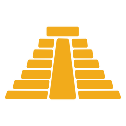 Templo piramidal azteca plana