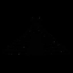 Esboço asteca da pirâmide do templo