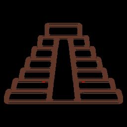Temple pyramid aztec stroke