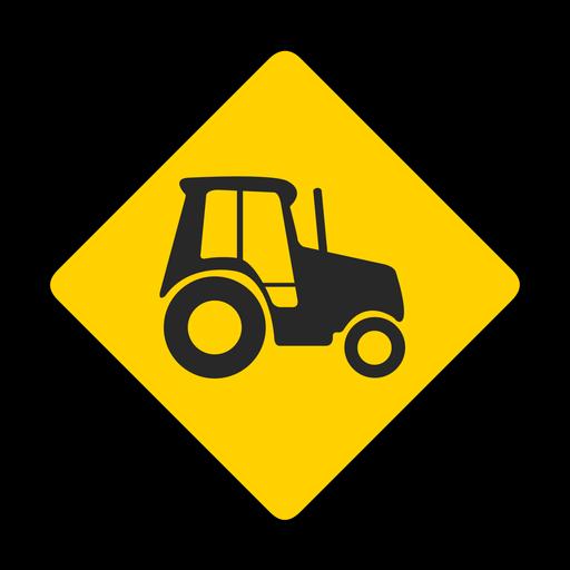 Tractor Rhomb Warning Flat Transparent Png Svg Vector File