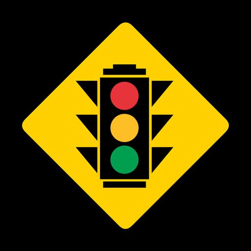 Semáforos círculo color color rombo advertencia plana Transparent PNG