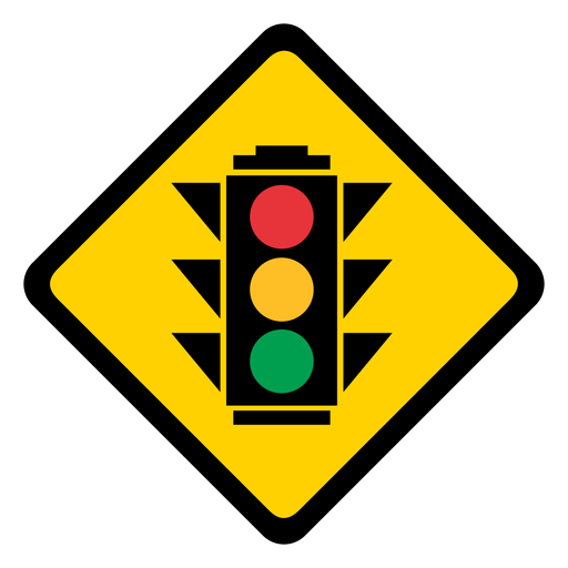 Traffic lights circle color colour rhomb warning flat Transparent PNG