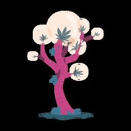 Ilustração de bolha de tronco de folha de árvore