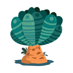 Baumblattstammfleckstreifen-Federillustration