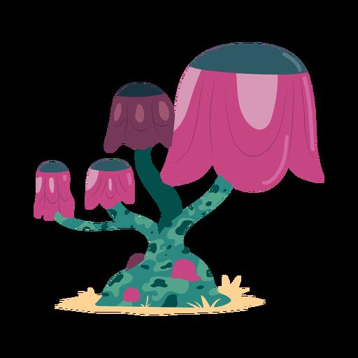 Ilustração de gorro de cogumelo mancha de tronco de árvore Transparent PNG