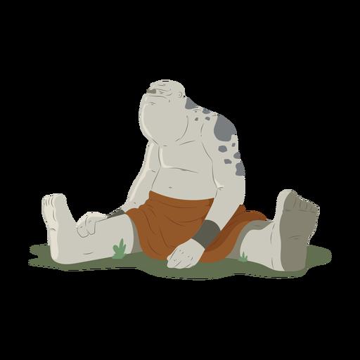 Troll prado enorme fuerte sentado negrita ilustración Transparent PNG