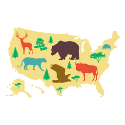 EUA mapa ilustração
