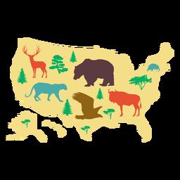 Ilustración de mapa de Estados Unidos