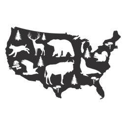 Usa silhouette map