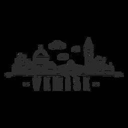 Venise skyline doodle pegatina