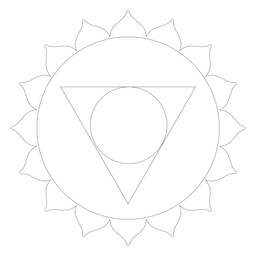 Vishuddha chakra icono