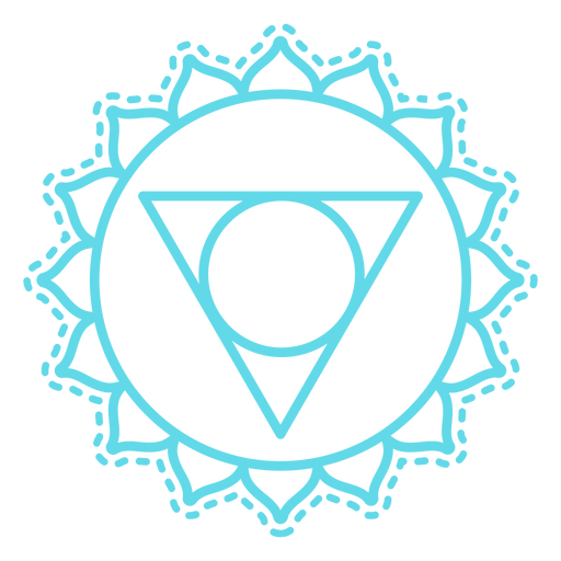 Vishuddha chakra icono de trazo Transparent PNG